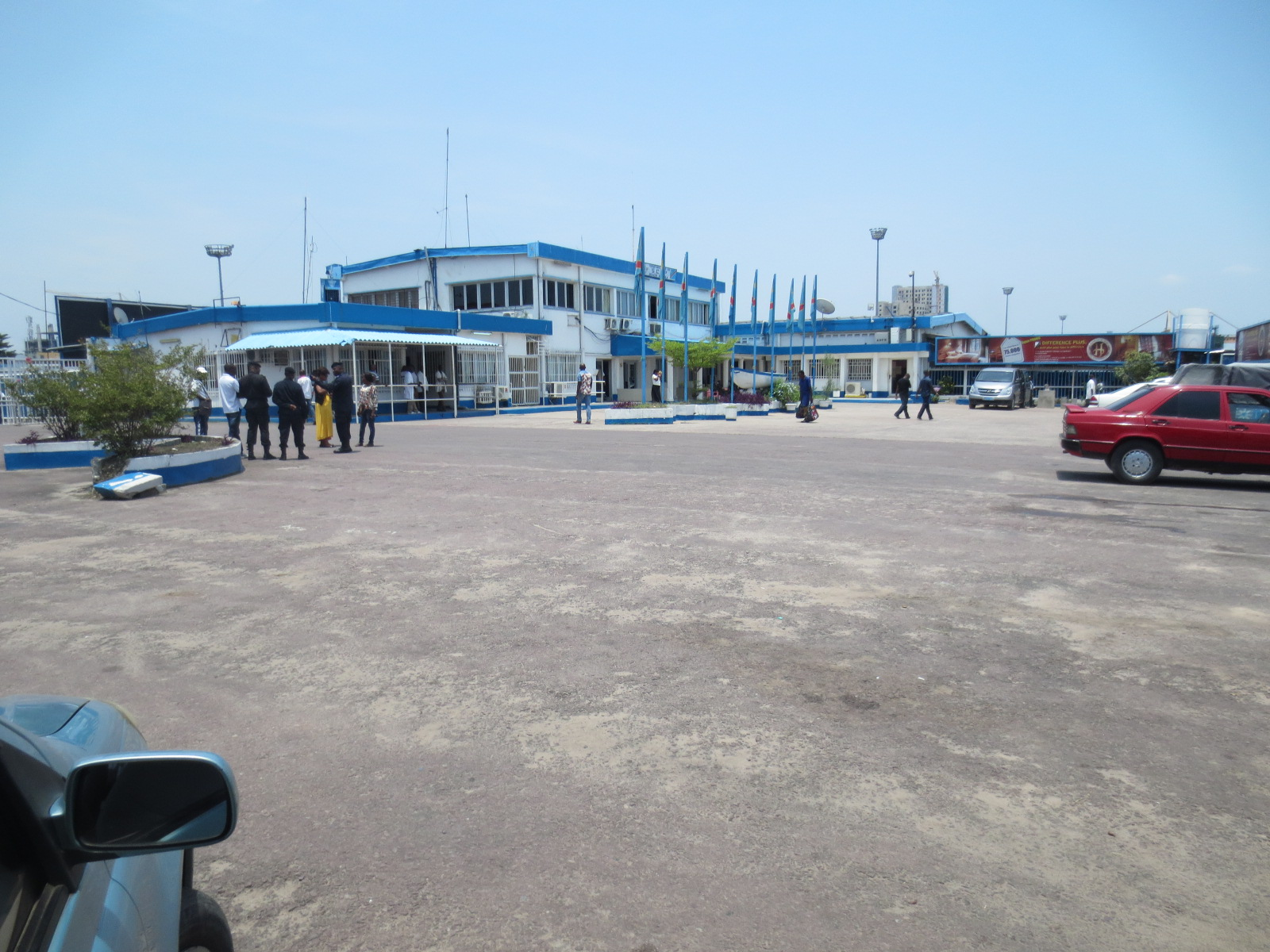 The port building at Kinshasa