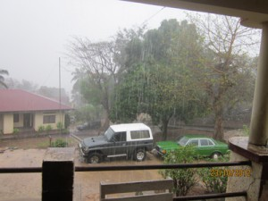 Much awaited rain in Matadi