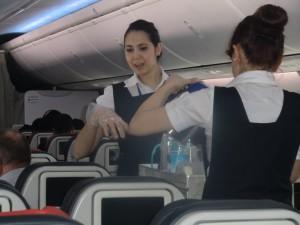On the flight to Kinshasa