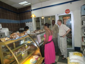 At a bakery in Kinshasa