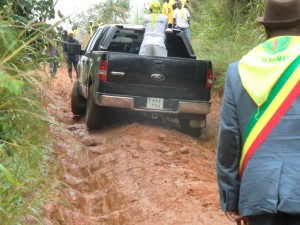 Our way back to Boko, about 100 km on mud road.